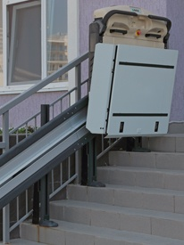 disabled stair lift outdoor platform lift image
