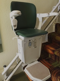 disabled stair lift straight chair lift image